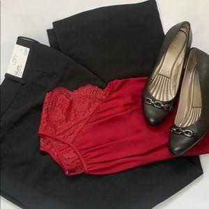 Ann Taylor Loft Laura full leg trousers size 12P